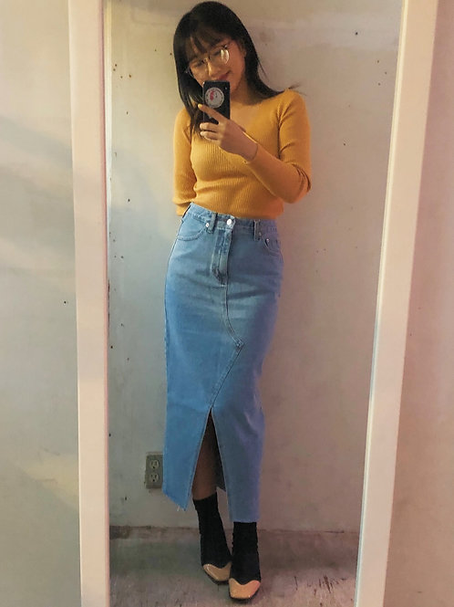 Lulu denim skirt