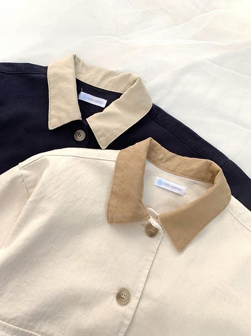 Cotton boxy jacket
