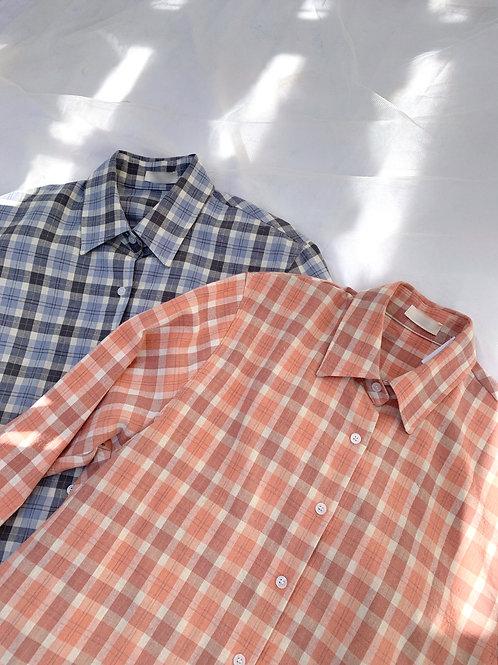 Over check shirt