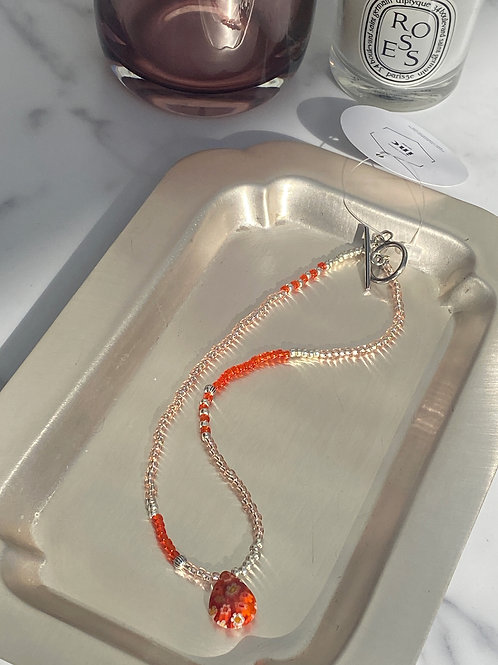 NO.5 Tears stone-orange (Choker necklace)