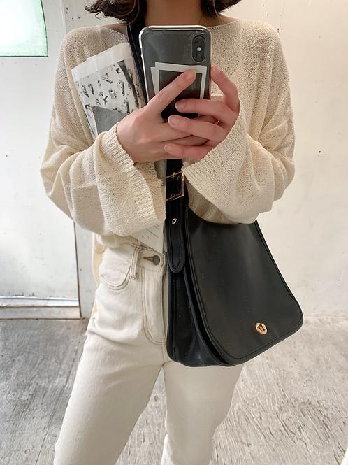 <再入荷予約>Round leather shoulder