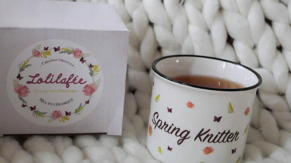 """Mug en céramique - collection """"Spring Knitter"""""""