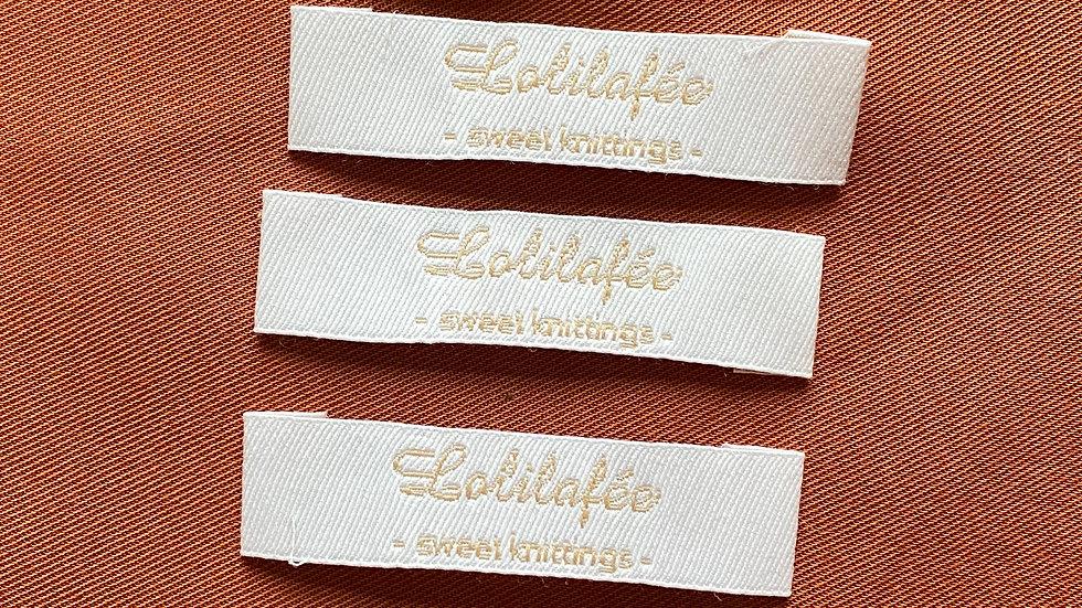 """Lot de 5 étiquettes """"Lolilafée"""""""