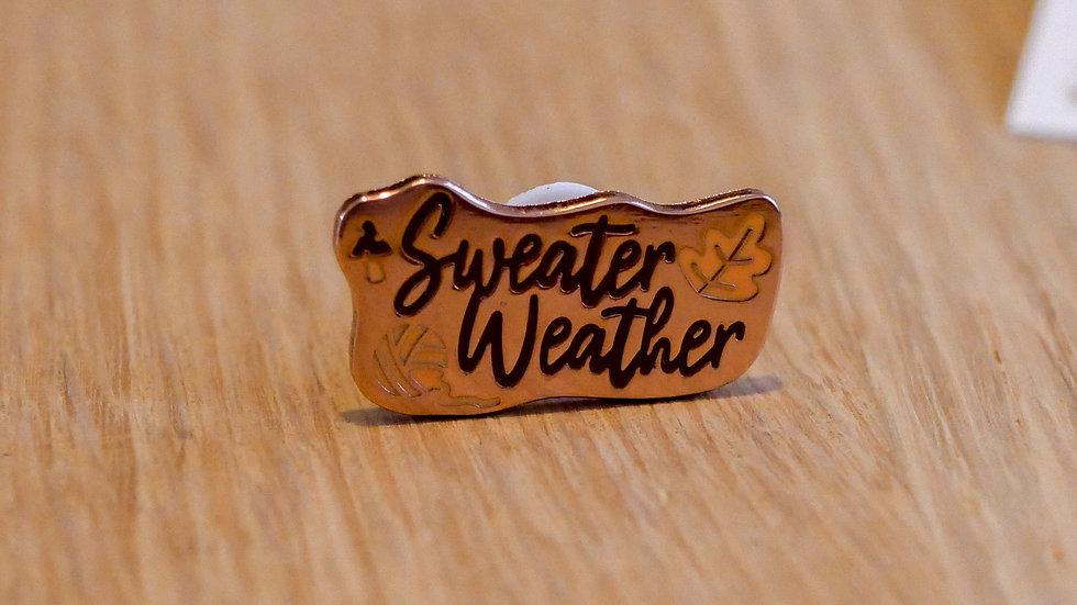 "Pin's ""sweater weather"""