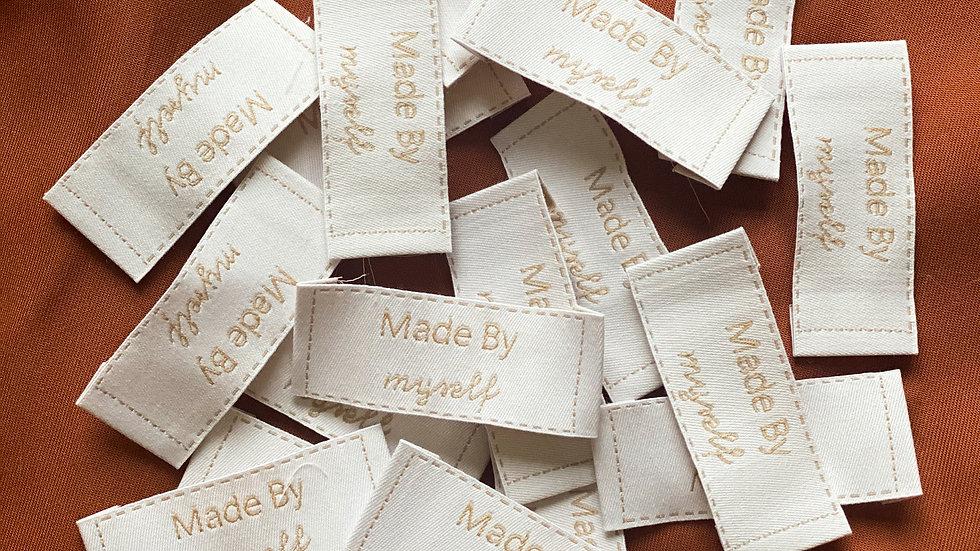 Lot de 5 étiquettes tissu