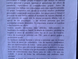 Entrega de certificados y reconocimientos Panificación Solidaria - Junín