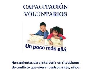 """""""UN POCO MAS ALLÁ""""– Charla con tutores y voluntarios"""