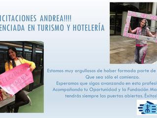 Felicitaciones Andrea Ibañez !!!