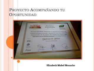 Felicitaciones Mabel !!!! Proyecto Acompañando Tu Oportunidad