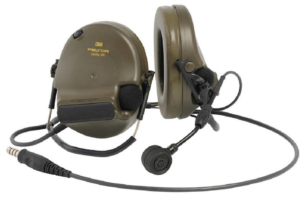 3M Peltor ComTac XPI mit Mikrofon und Nackenbügel Headset Oliv