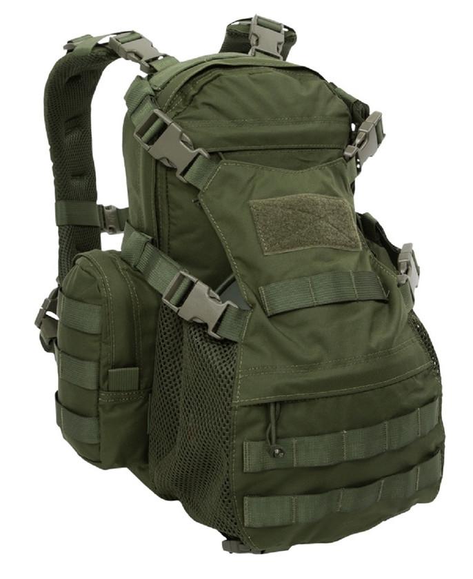 Warrior Assault Systems Rucksack Helmet Cargo Pack Olive Front
