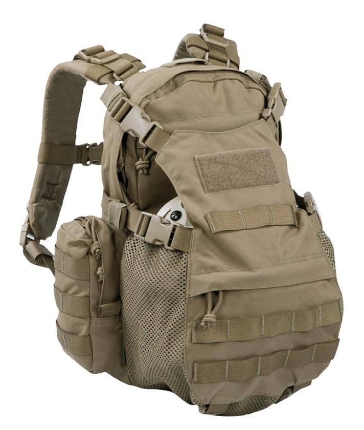 Warrior Assault Systems Rucksack Helmet Cargo Pack Coyote Front