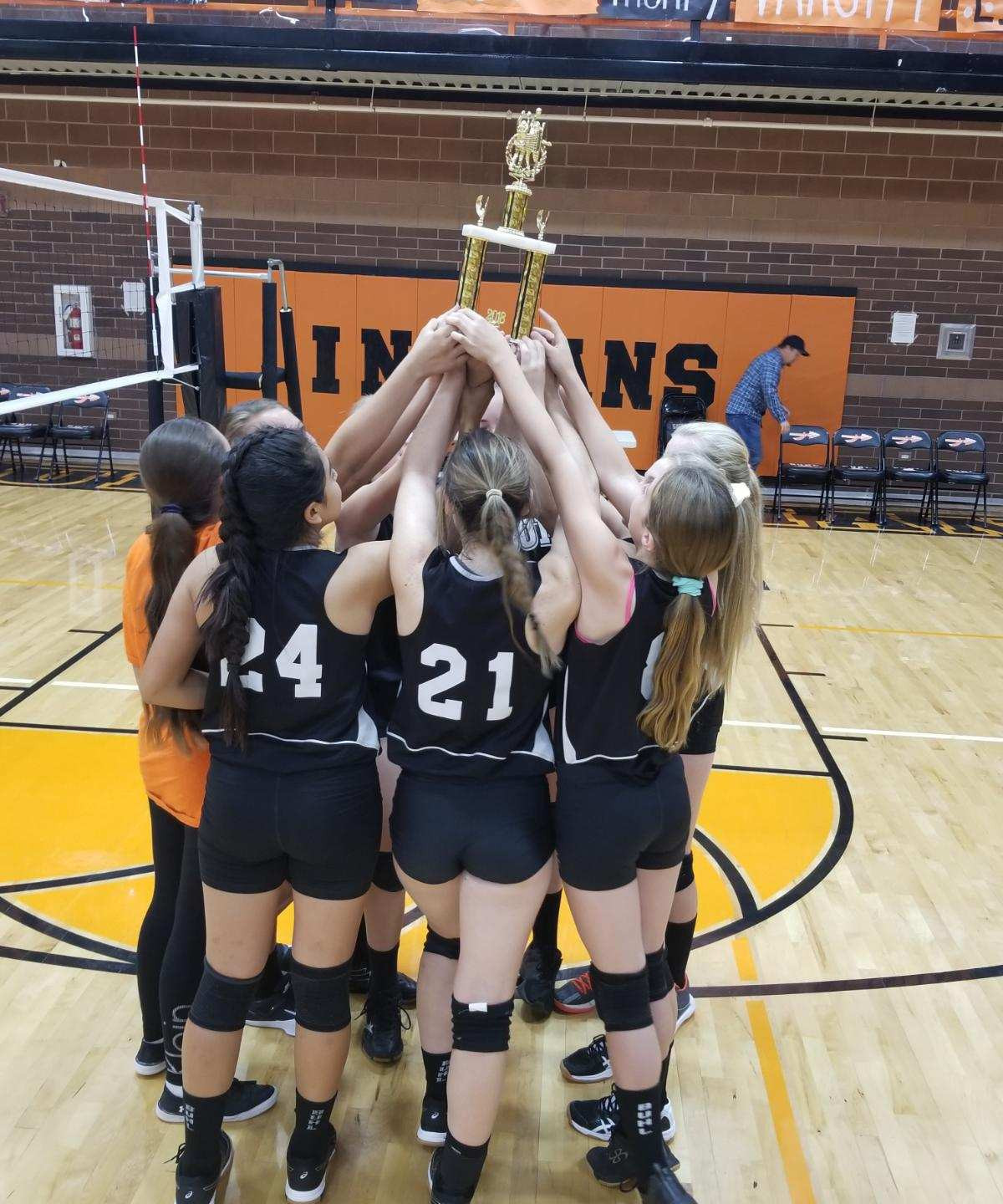 BMS Volleyball team wins the BMS Invitational!