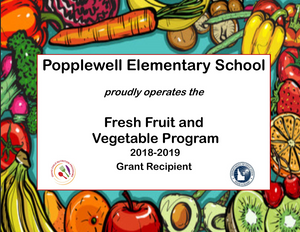 Fresh Fruit & Vegetable Program for PES announcement