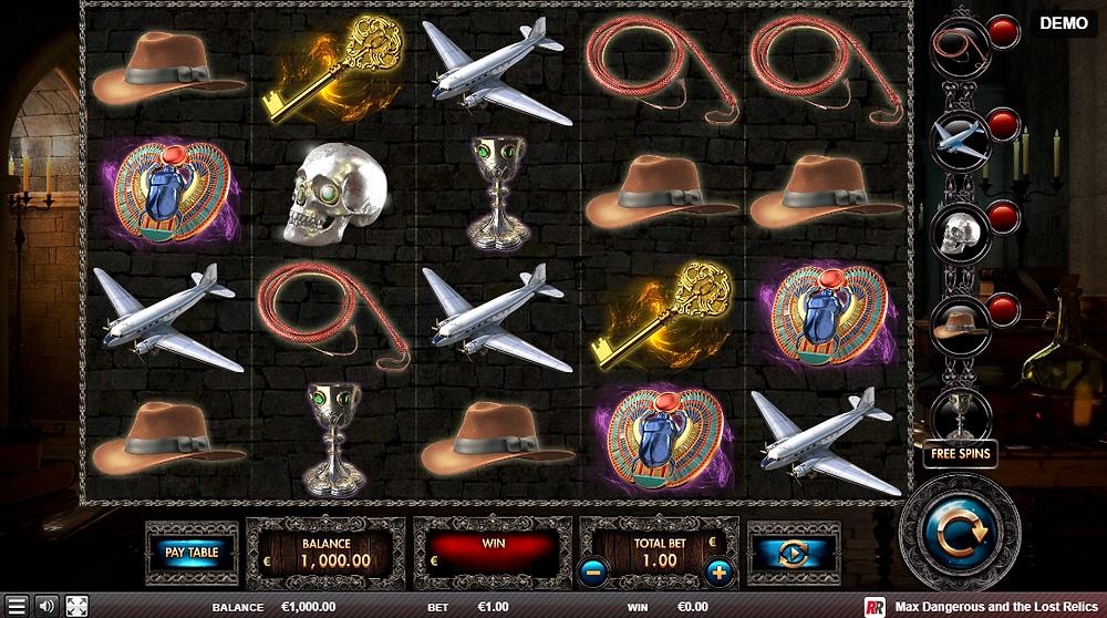 Max Dangerous And The Lost Relics Slot Red Rake Gaming Genius Gambling
