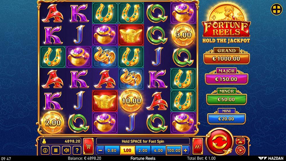 Fortune Reels Hold The Jackpot Slot By Wazdan Genius Gambling