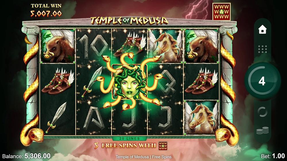 Temple Of Medusa Slot Bonus Features Genius Gambling