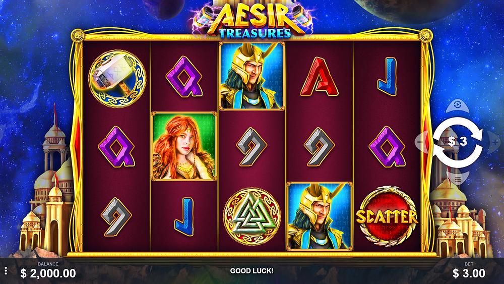 Aesir Treasures Slot base game Pariplay Genius Gambling