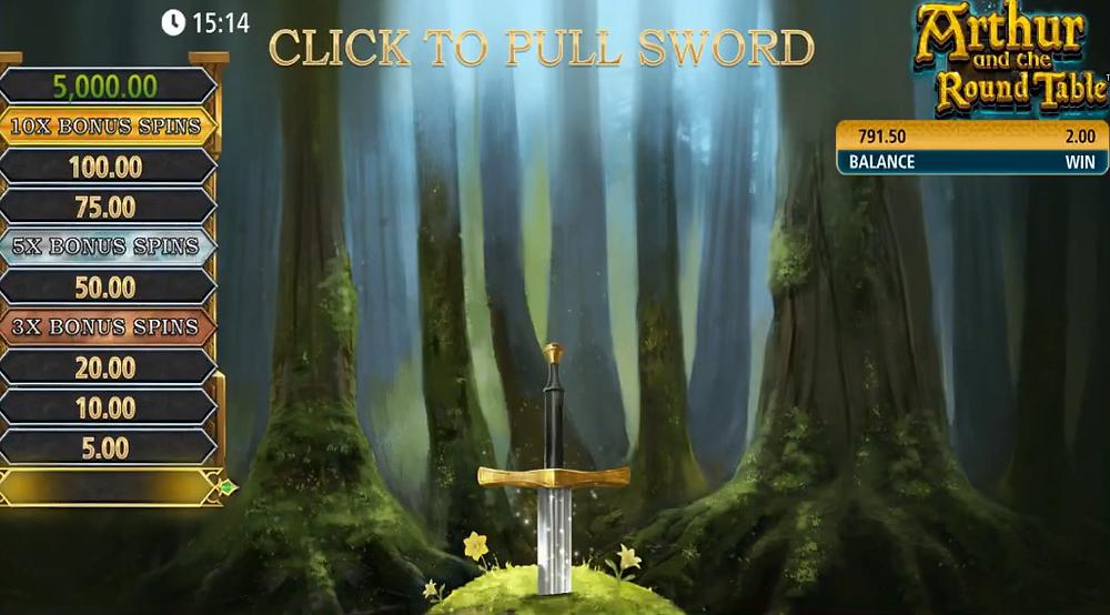 Arthur And The Round Table Slot By SG Digital Excalibur Bonus Genius Gambling