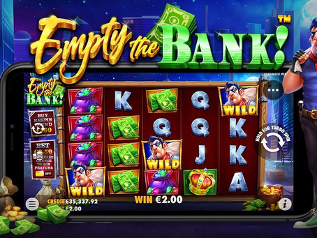 Empty The Bank Slot By Pragmatic Play Releasing 01/07/2021