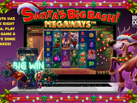 Santa's Big Bash Megaways Slot By Iron Dog Studios Announcement