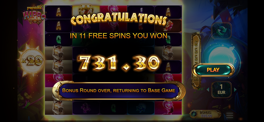 Hippopop big win genius gambling