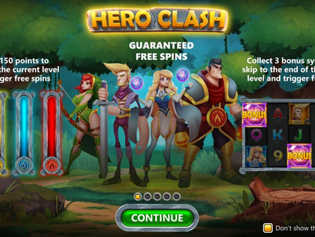 Hero Clash Slot By Hurricane Games Preview Releasing 08/07/2021