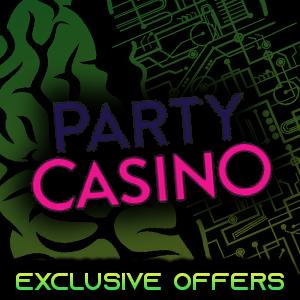 Party Casino 50 free spins depsoit match bonus genius gambling