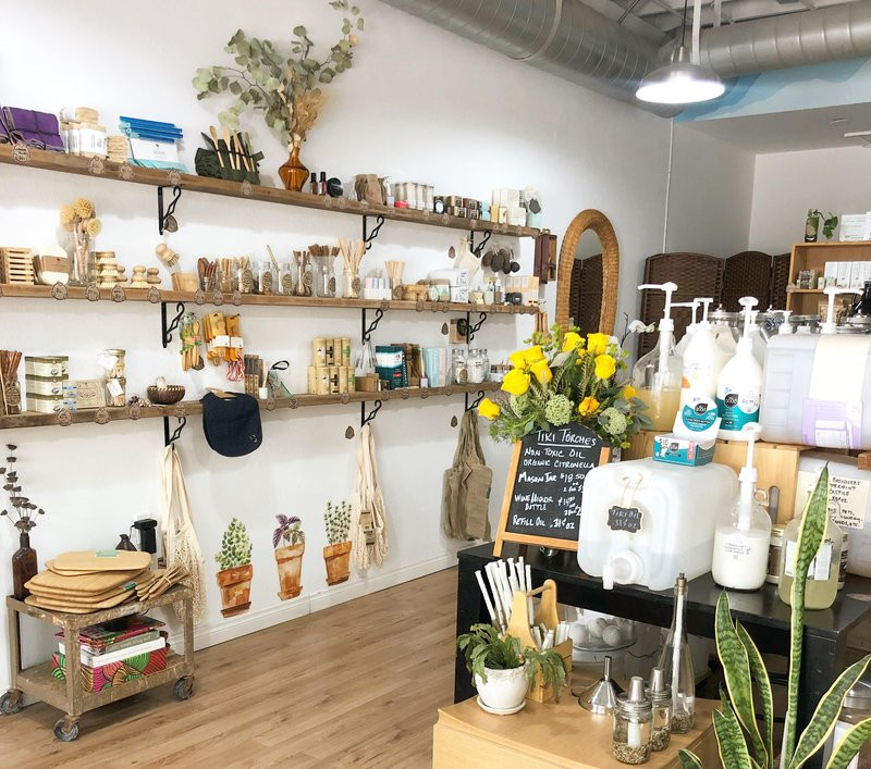 interior of Prostainable refill shop, who crowdfunded on Honeycomb