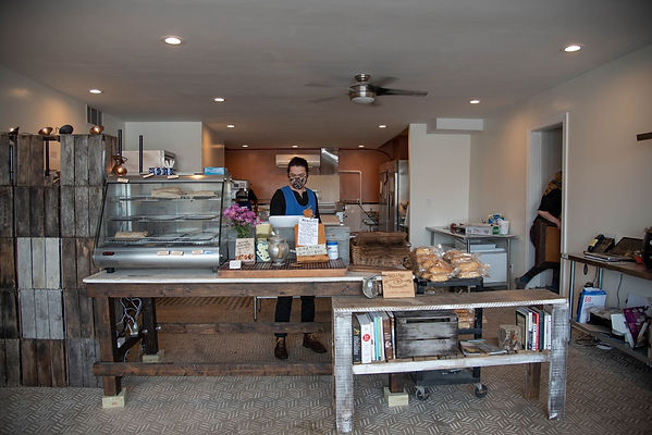 bakery counter at Rolling Pepperoni