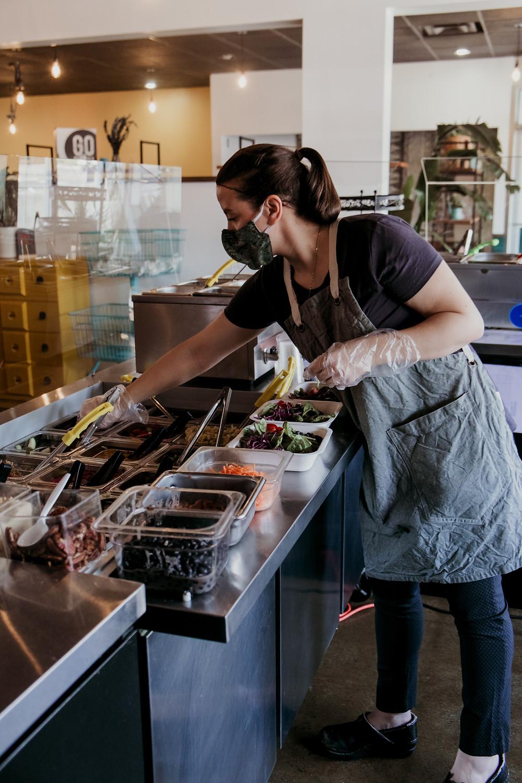 staff member at Go Buddha restaurant in Cleveland Ohio