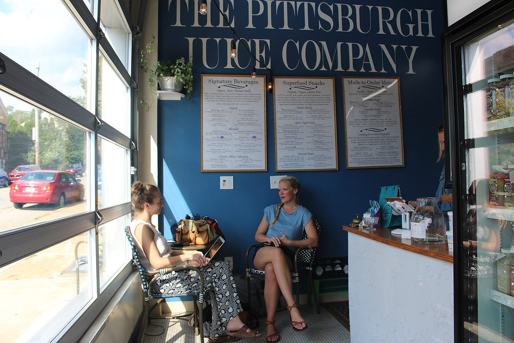 Naomi Homison in The Pittsburgh Juice Company retail location