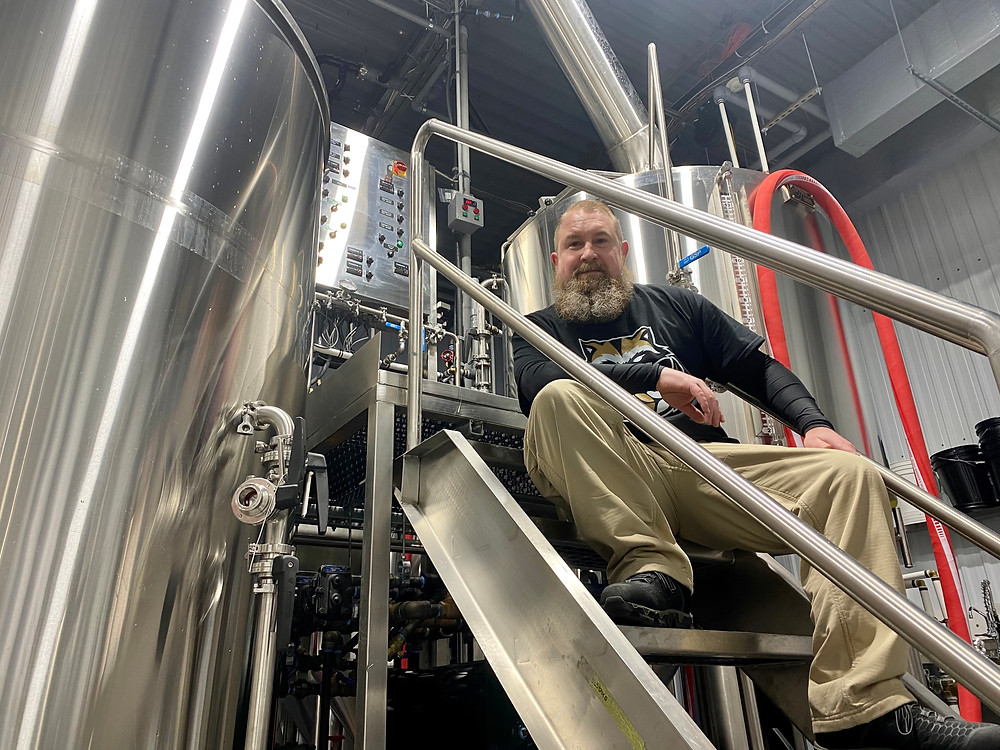 Swedesboro Brewing Company co-owner Kevin Bain in the brewhouse