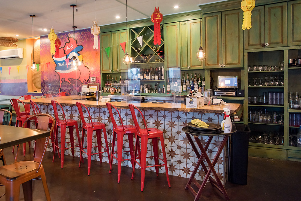 the bar at Kiin Lao and Thai Eatery in Pittsburgh