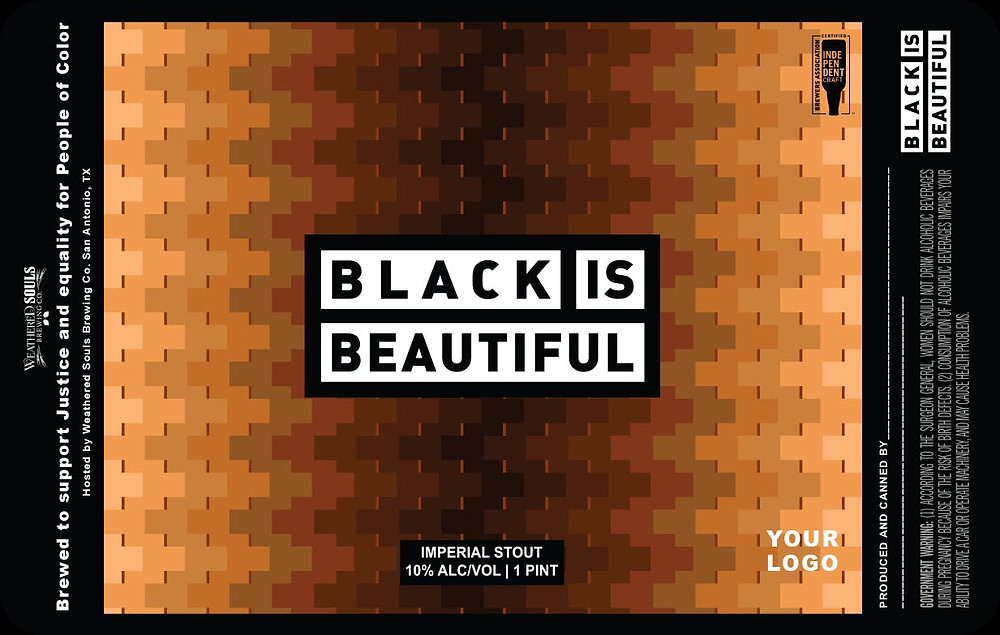 sample label for Black is Beautiful beer