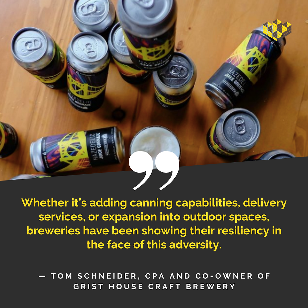 A selection of Grist House Brewery cans