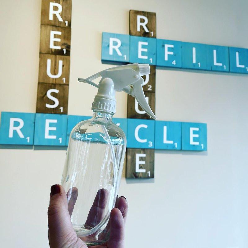 glass spray refill bottle from Little Spark Refill Shop