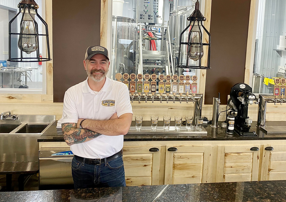 Swedesboro Brewing Company co-founder Marvin Bowe in the taproom