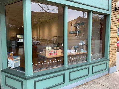 Storefront of Little Spark Refill Shop