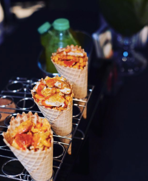 Chick'n and Waffle Comfort Cones