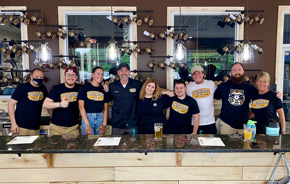 the tasting room staff at Swedesboro Brewing Company