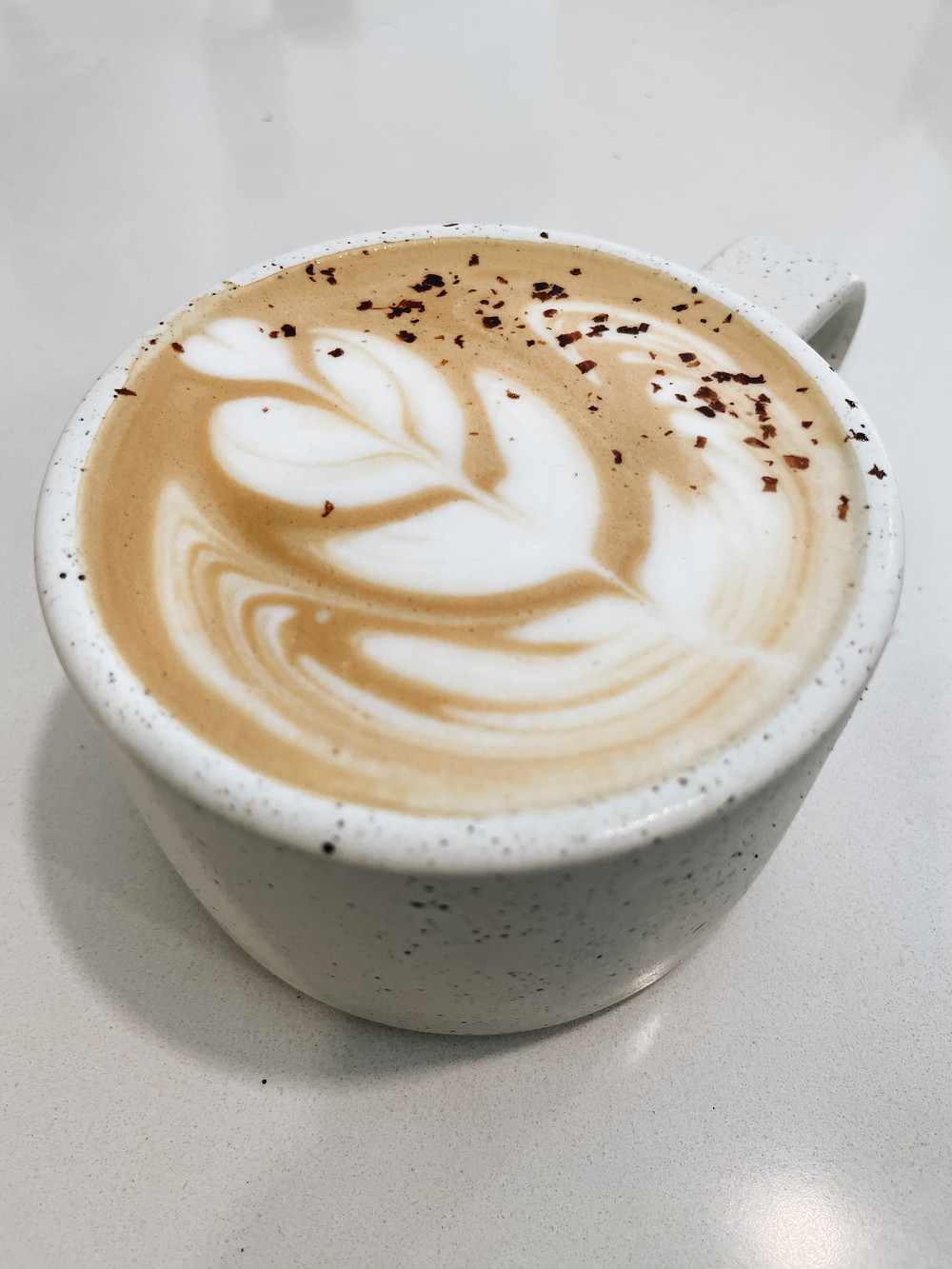 an espresso drink at Tonic Coffee