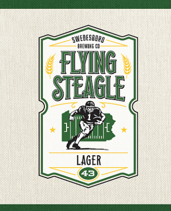 Logo for Swedesboro Brewing Company's Flying Steagle Lager