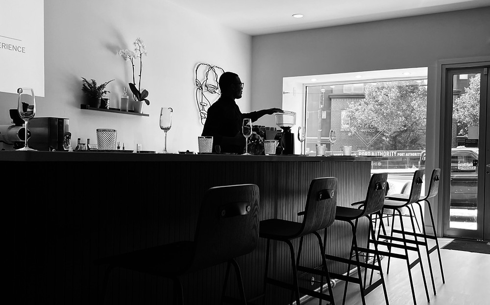 interior of Tonic Coffee in Lawrenceville Pittsburgh