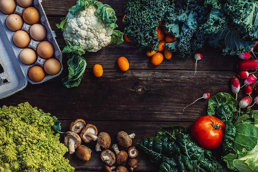 Eggs, produce, dairy, meat and specialty