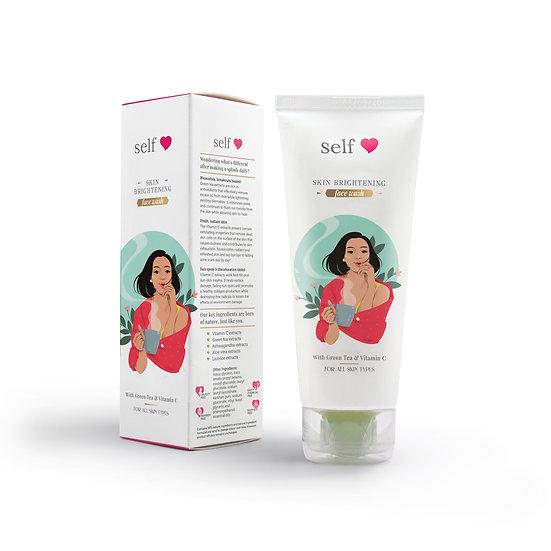 Self love Skincare - Skin Brightening Face Wash With Green Tea & Vitamin C