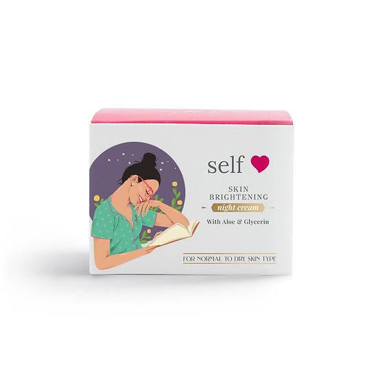 Self love Skincare - Skin Brightening Night Cream With Aloe & Glycerin