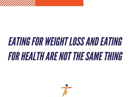 Eating for weight loss vs. eating for health