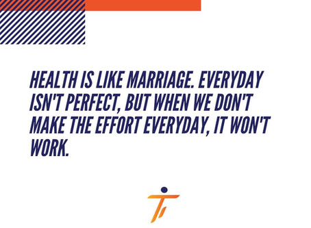 Health is like marriage