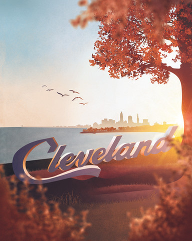 Cleveland Sign Sunrise_2021 Planner Cove
